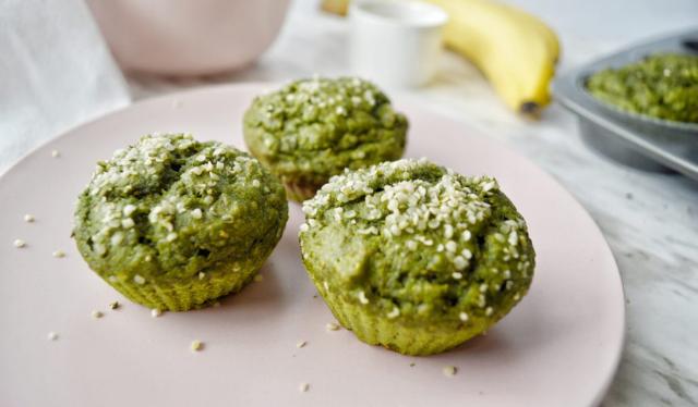 Spinach Banana Whole Wheat Muffins
